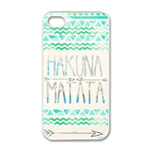 Super Generic KGEND Hakuna Matata Aztec Tribal Pattern Snap-On Case for iPhone 4S - Non-Retail Packaging - Multi