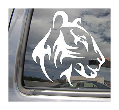 - Tribal Female Lion Head - Lioness African Asiatic Indian Safari King Leo Astrology - Cars Trucks Moped Helmet Hard Hat Auto Automotive Craft Laptop Vinyl Decal Store Window Wall Sticker 01560