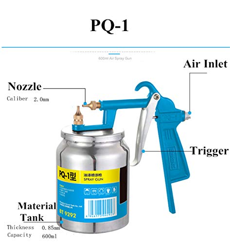 1000 Series Guard Rail - 600/750/1000ML Professional Pneumatic Spray Gun Airbrush Sprayer Alloy Painting Atomizer Tool With Hopper For Painting Car BT-PQ-1
