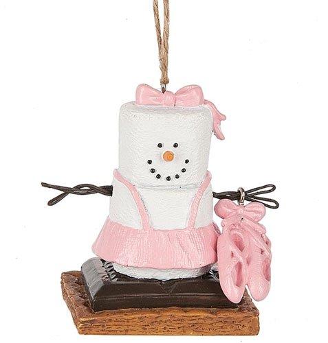 S'mores Original Snowman Ballet Slippers Ornament