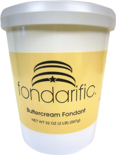 Fondarific Buttercream Antique White Fondant, 2-Pounds