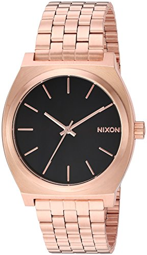 Nixon Men's 'Time Teller' Quartz Stainless Steel Casual Watch, Color:Rose Gold-Toned (Model: