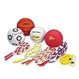 Champion Sports Physical Education Kit w/Seven Balls, 14 Jump Ropes, Assorted Colors