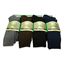 Men's Rayon from Bamboo Ribbed Crew Dress Socks (3 Pair)