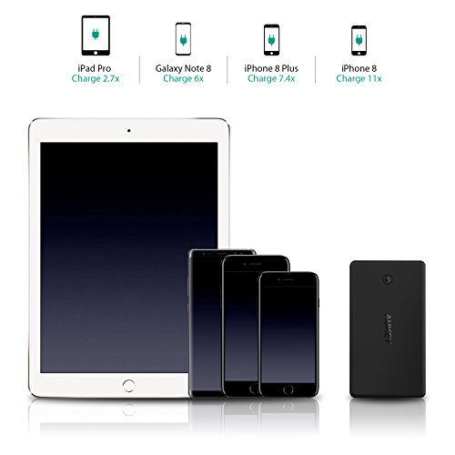AUKEY 30000mAh strength Bank by using Lightning Micro insight lightweight Charger 48A two USB end product Battery Pack for iPhone X 8 Plus iPad Pro and significantly more take a trip Chargers