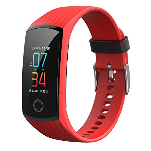 Fitness Trackers,Smart Band,Color Touch Screen Activity Tracker With Heart Rate And Sleep Monitor,Smart Notification,Ip67 Waterproof Usb Charger For Women And Men