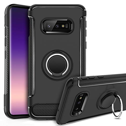 Black Galaxy S10e Case with Kickstand,GREATRULY...