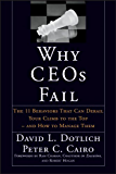Why CEOs Fail: The 11 Behaviors That Can Derail Your Climb to the Top - And How to Manage Them (J-B US non-Franchise Leadership)