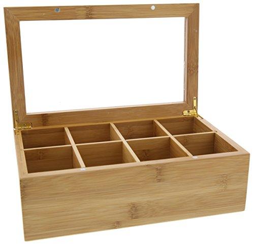 Tea Box Condiments Organizer Compartments product image