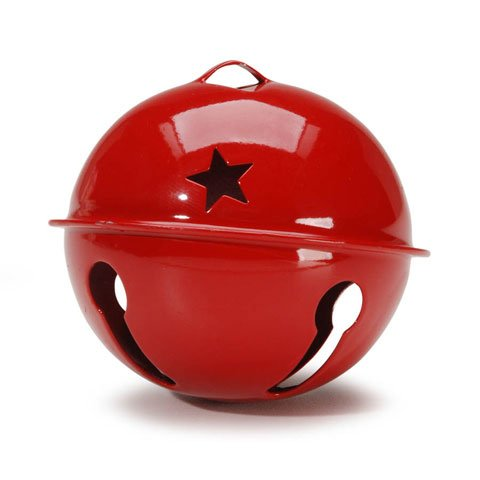 Darice Bulk Buy DIY Jingle Bell Red with Star Cutouts 2.75 inches (6-Pack) 10705 ()
