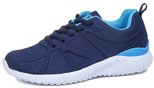 Kids Athletic Tennis Shoes - Little Kid Sneakers with Girl and Boy Sizes Teal/Blue
