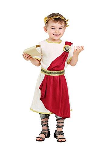 Toddler Roman Senator Costume 4T White ()
