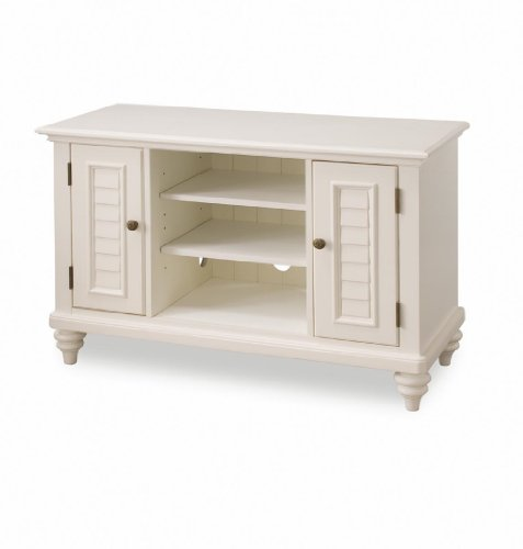 Home Bermuda - Bermuda Brushed White TV Stand by Home Styles