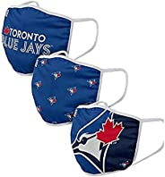 FOCO Youth Toronto Blue Jays Face Mask Face Cover Reusable Face Covering 3 Pack