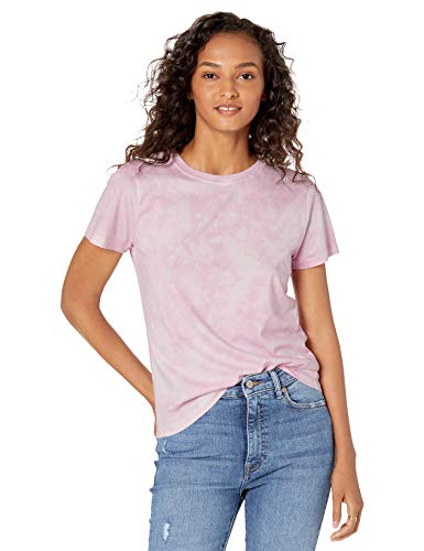 The Drop Women's Courtney Short Sleeve Tiny Crew Neck Jersey T-Shirt, Pink Tie Dye, M (The One With The Tiny T Shirt)