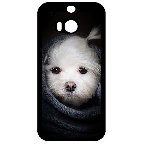 Plastic Protector Case for HTC One M8, Girly Dog Phone Slim Carring Cases For Teen Girls