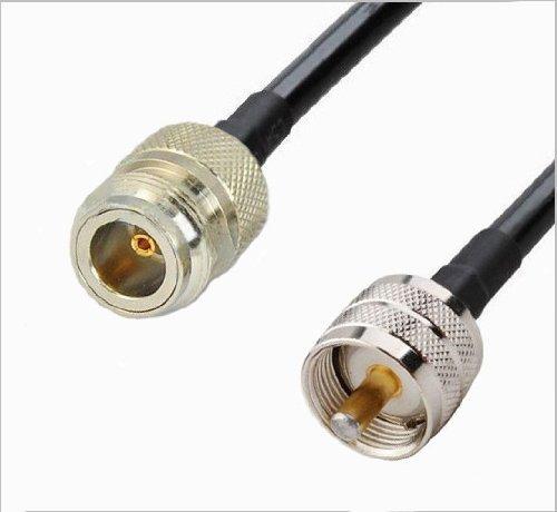 Amazon.com: RF femeninos cable coaxial de N para UHF PL259 RG58 masculina | (TM) HECHO EN EE.UU. - RG-58 PL-259 a N Hembra (3 pies nos hizo RG-58 puentes ...