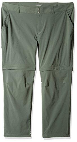 Womens Gravel (Columbia Women's Plus Size Saturday Trail ii Convertible Pants, Gravel, Size 20 x Short)