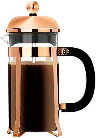 オフィスコーヒープレッサーティーポット フレンチプレスポットコーヒーポットティーフィルターカップハンドメイドコーヒーアプライアンスホームEssentialsのキッチン家電 (色 : ゴールド, サイズ : 350ml)