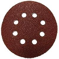 100 stycken Lepik kardborrband slippapper slipskivor för excenterslipmaskin Ø 125 mm slipmaskin med hål korn 120 (100 st…