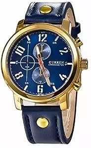 Curren Mens Round Dail Wrist Watch M8192 (Blue)