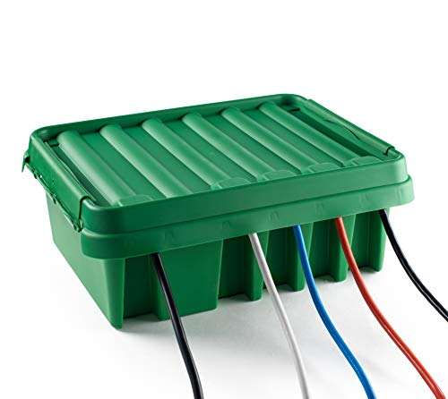 SOCKiTBOX - The Original Weatherproof Connection Box - Indoor & Outdoor Electrical Power Cord Enclosure for Timers, Extension Cables, Reels, Transformers, Power Strips, Lights & Tools - Large - Green ()