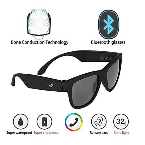 HMY Wireless Bluetooth Glasses,High End Smart Glasses Waterproof Wireless Bluetooth Hands-Free Calling Music Audio Open Ear Sunglasses