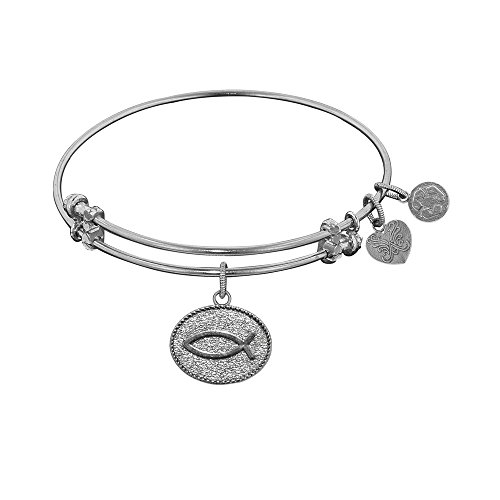 JewelryWeb Angelica Christian Fish Bangle Bracelet -  RCB318507