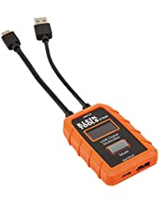 USB Power Meter, USB-A Digital Meter for Voltage, Current, Capacity, Energy, Resistance, Max Current, No Batteries Needed Klein Tools ET910