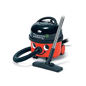 """Numatic Top-Seller Hi-Power (but quiet) 2-stage Professional Canister Vacuum Cleaner with AutoSave Technology, with the A1 Accessory tool kit, HVR200A, """"Henry"""" (Color: Red)"""