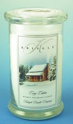 COZY CABIN Large 2-Wick 22 oz 100 Hour Jar by Kringle Candle