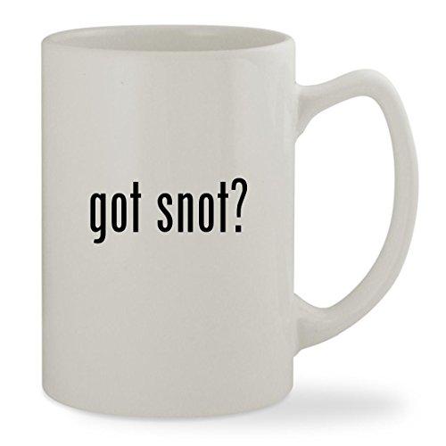 got snot? - 14oz White Statesman Sturdy Ceramic Coffee Cup (Snot Rockets)