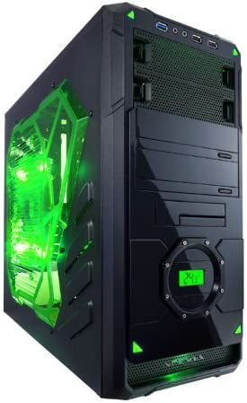 Apevia X-Dreamer 4 Metal Case with Side Window-Green X-DREAMER4-GN Green