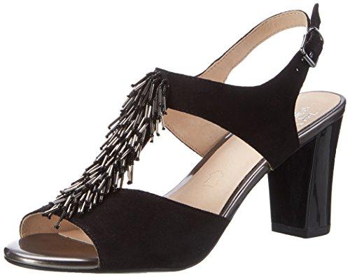 Caprice Women's 28303 Wedge Heels Sandals Black (Black Suede) sale sale online free shipping tumblr qqZV2