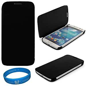 Cerhinu VG Premium Faux Leather Flip Carrying Case w/ Sleeve Mode Function (Black) for Samsung Galaxy S4 / S IV Android...