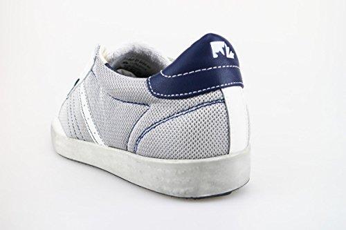 LUMBERJACK Sneakers Uomo 40 EU Bianco Grigio Blu Tessuto Pelle AG176 Envío Del Precio Bajo Tarifa y2ur6OHW