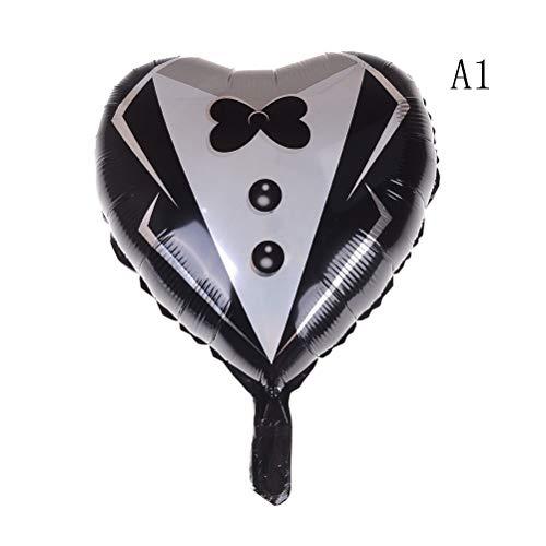 Ballons & Accessories - Bride Groom Aluminum Balloon Ball Wedding Party Decor Heart Shaped Happy Birthday Diy Decorations - Balloons Ballons Accessories