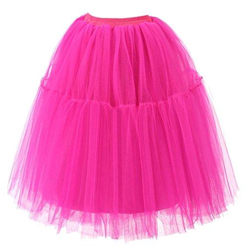 Haute Qualit Adulte Jupe Gaze Hot TM Femmes Tutu Rose Drape Plisse MuSheng Jupe Danse qtaFEnHg