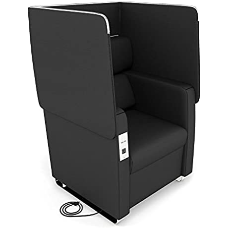 Morph Faux Leather Flip Up Privacy Panel Chair Dimensions 33 25 W X 33 D X 40 50 50 75 H Seat Dimensions 22 25 Wx20 Dx18 75 H Idnight Polyurethane Chrome Base