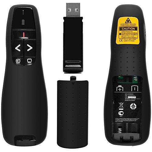 LAKA Wireless Presenter,Support hyperlinks RF 2.4GHz PowerPoint Clicker Presentation, Remote Control PPT Pointer Clicker Flip Pen (a) by LAKA (Image #2)