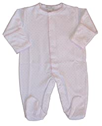 Kissy Kissy Baby Dots Footie-White with Pink Dots-9 Months