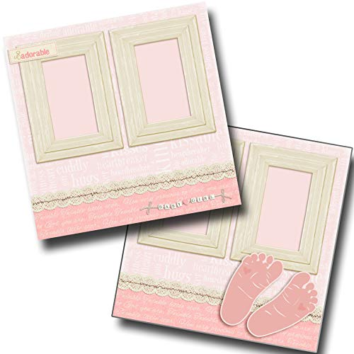 Footprints Girl - Baby - Premade Scrapbook Pages - EZ Layout 4046 ()