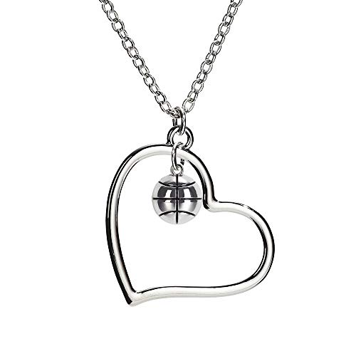 (GIMMEDAT Heart of Mine: Basketball Silver Necklace)