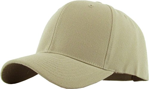- KBETHOS In Style Dad Hat Adjustable Plain Cap Polo Style Low Profile Baseball Trucker Mesh Caps Unstructured (Adjustable, (Velcro - Acrylic) Khaki)