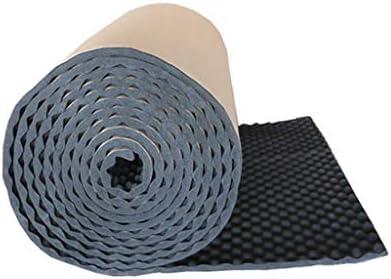 防火音響パネル、黒自己接着耐久性のある屋内録音スタジオ多機能吸音綿/ 5平方メートル (Color : Black)