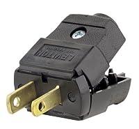 Leviton 101-P 15 Amp, 125 Volt, NEMA 1-15P, 2P, 2W, Plug, Straight Blade, Residential Grade, Polarized, Non-Grounding, Brown