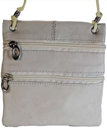 New Genuine Leather Travel Purse General Purpose Shoulder Cream Bag