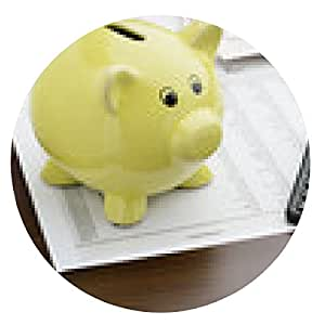 alfombrilla de ratón El cálculo de los ahorros - ronda - 20cm