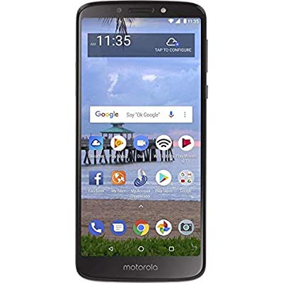 "Motorola Moto E5 (16GB, 2GB RAM) 5.7"" Display, 4000 mAh All Day Battery, FM Radio - (GSM + Verizon) Factory Unlocked 4G LTE Smartphone (US Warranty)"