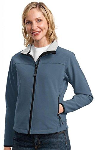 Port Authority L790 Ladies Glacier Soft Shell Jacket - Atlantic Blue/Chrome L790 3X